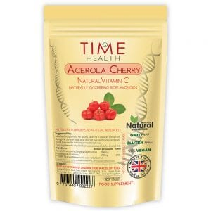 Acerola Cherry 120 Capsules 2 Months Supply Natural Wholefood Vitamin C