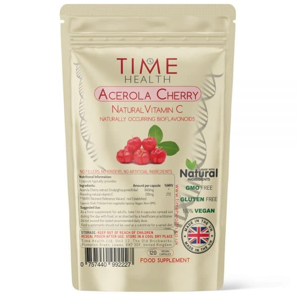 Acerola Cherry Capsules - Natural Vitamin C with Naturally Occuring Bioflavanoids