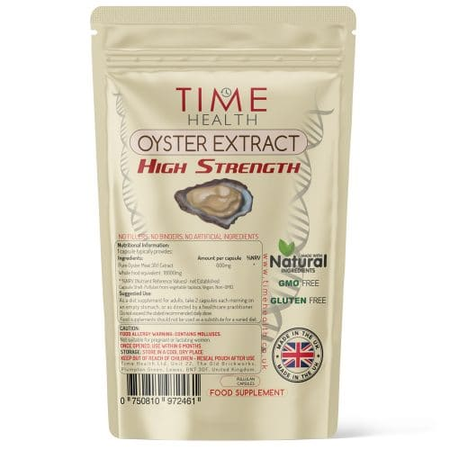 Oyster Extract Capsules - High Strength - Natural Zinc & Taurine