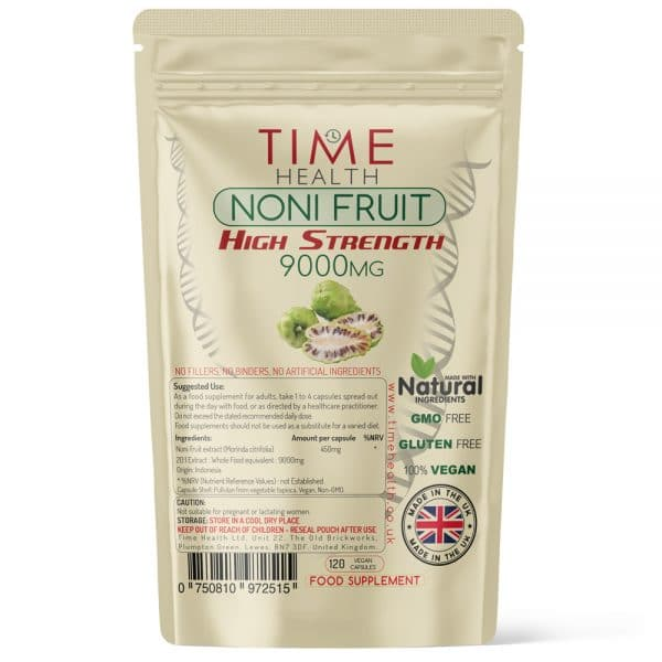 Noni Fruit Capsules - High Strength - 9000mg Wholefood Equivalent