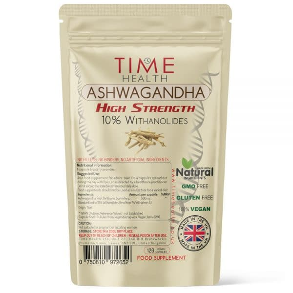 Ashwagandha Root - High Strength 10% Withanolides - Capsules