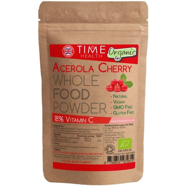 Organic Freeze Dried Acerola Powder - 18% Vitamin C