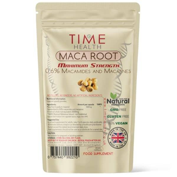 Maca Root Capsules - Maximum Strength 0.6% Macamides & Macaenes