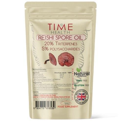 Reishi Spore Oil 500mg Softgels - 20% Triterpenes - 5% Polysaccharides