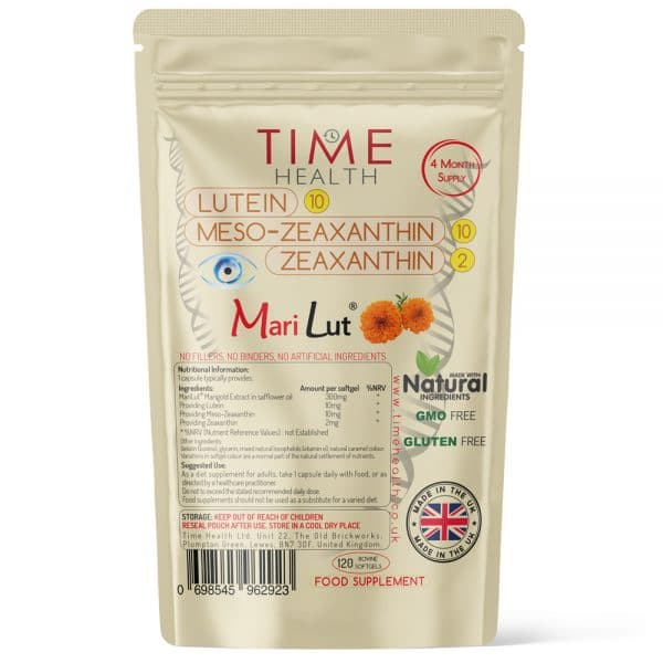 Lutein 10mg Meso-Zeaxanthin 10mg Zeaxanthin 2mg - Made with Marilut - Softgels