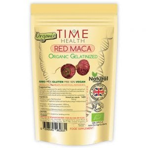 Red Maca Root Capsules Gelatinized 2000mg Soil Association Certified Organic
