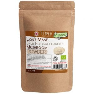 Lions Mane Organic Full Spectrum Mushroom Extract 100g powder - 37% Polysaccharides - Grown in the EU