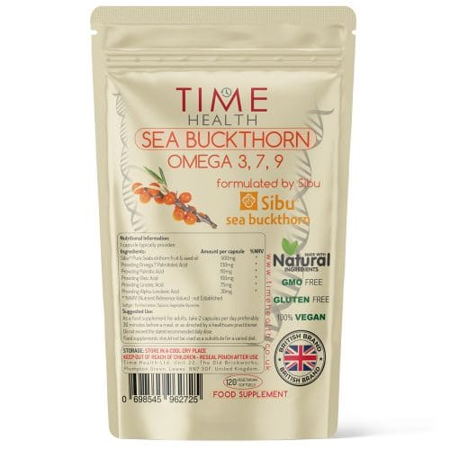 Sea Buckthorn Capsules - Omega 3 7 9 - Made with Sibu