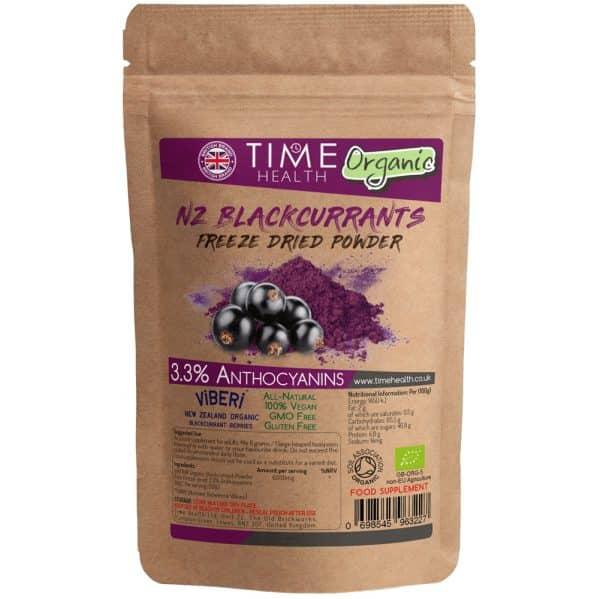 Organic Viberi Blackcurrant Powder 3.3% Anthocyanins