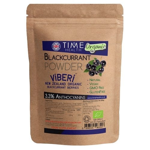 ViBERi® Pure Organic New Zealand Freeze-Dried Blackcurrant Powder 3.3% Anthocyanins