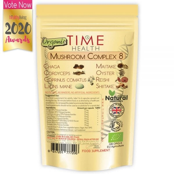Mushroom Complex 8 - Lion's mane, Chaga, Maitake, Reishi, Shiitake, Cordyceps, Coprinus, Oyster