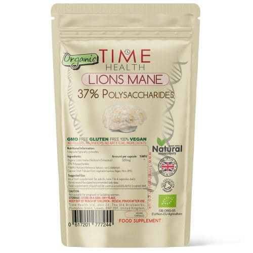 Organic Lion's Mane Mushroom Extract - 37% Polysaccharides - Capsules