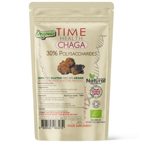 Organic Chaga Extract - 30% Polysaccharides - Capsules