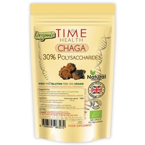 organic chaga capsules 30% polysaccharides 8% beta glucans