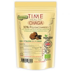 Chaga ORGANIC Extract (Inonotus obliquus‎) 120 Capsules 30% Polysaccharides - Grown in the EU