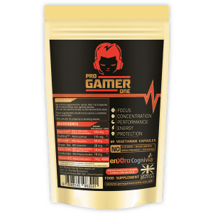 Pro Gamer One - Specialist Gaming Supplement - Focus / Concentration / Booster