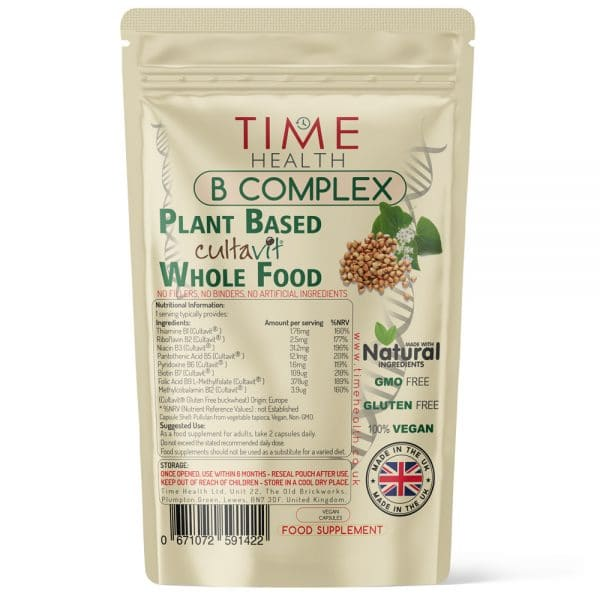 B Complex - Plant-Based & Whole Food - Made with Cultavit - Capsules