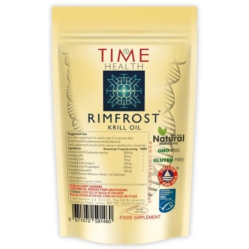 RIMFROST antarctic krill oil softgels with EPA DHA Phospholipids and astaxanthin