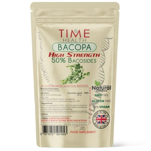 Bacopa Monnieri Capsules - High Strength 50% Bacosides
