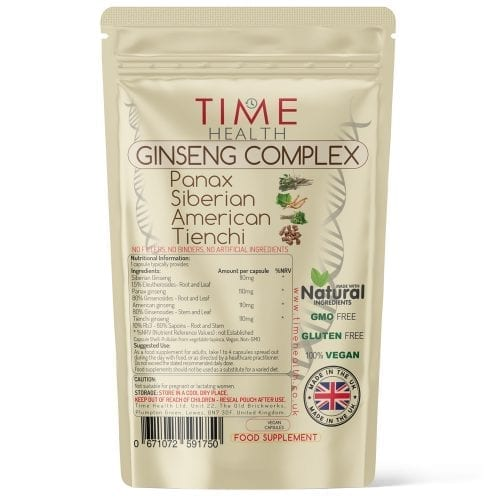 Ginseng Complex Capsules - Panax - Siberian - American - Tienchi
