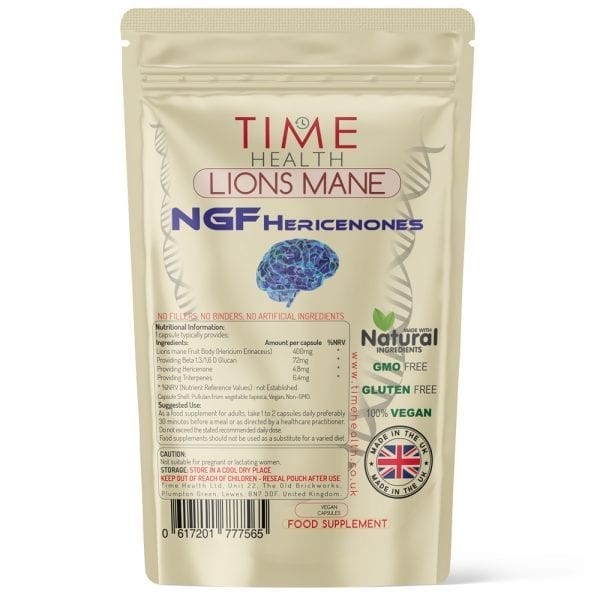 Lion's Mane - NGF Hericenones - Cognitive Support - Capsules