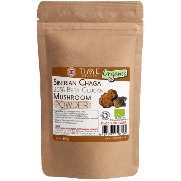 organic siberian chaga 20% beta glucan powder