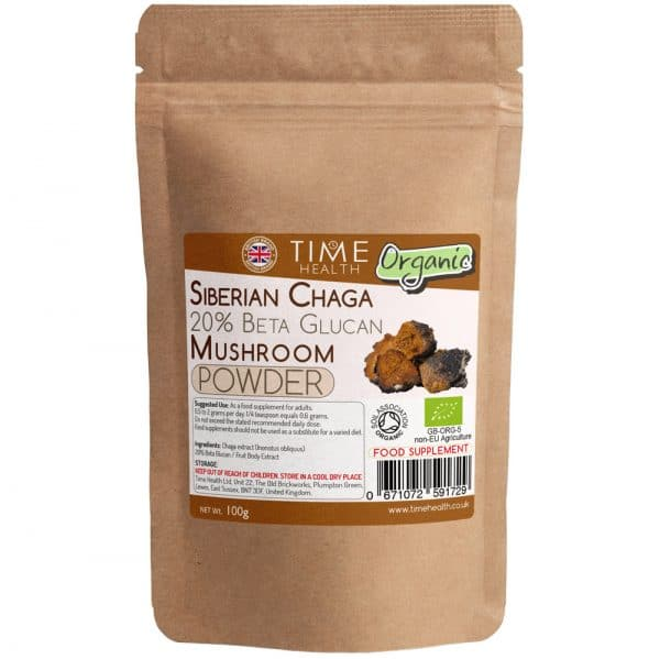 Organic Siberian Chaga Extract Powder - 20% Beta Glucans