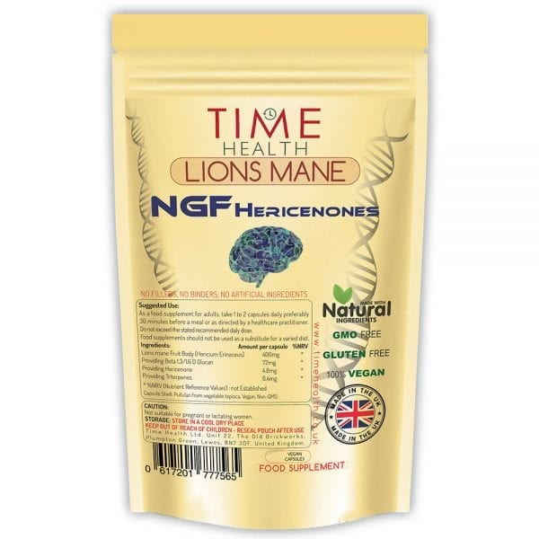 Lions mane capsules - Nerve Growth Factor (NGF) - Hericenones - Cognitive