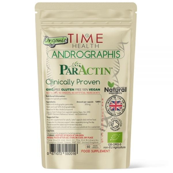 Organic Andrographis Paniculata - Made with ParActin - Clinically Proven - Capsules
