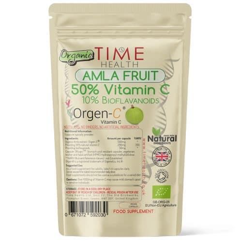 Organic Amla Fruit - 50% Vitamin C - 10% Bioflavanoids - Made with Orgen-C - Capsules