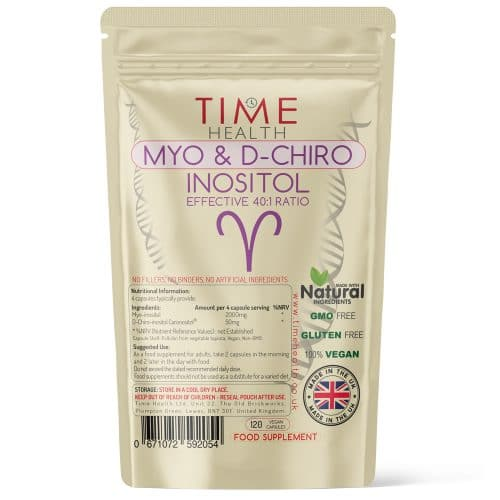 Myo & D Chiro Inositol - Effective 40:1 Ratio - Supports Women with PCOS - Capsules