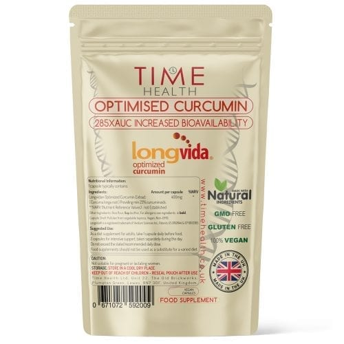 Optimised Curcumin - Made with Longvida - 285XAUC Increased Bioavailability - Capsules