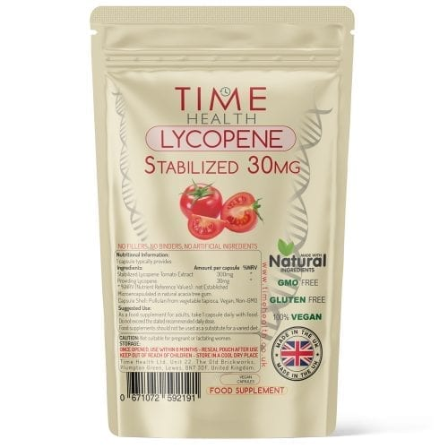 Lycopene - Microencapsulated for Stability - 30mg per Capsule