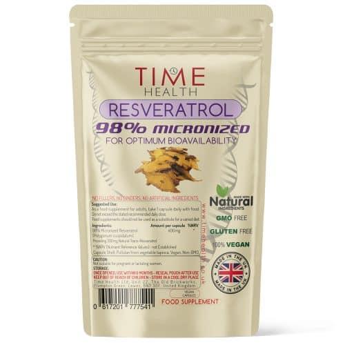 Resveratrol - 98% Micronized - Optimum Bioavailability - Capsules