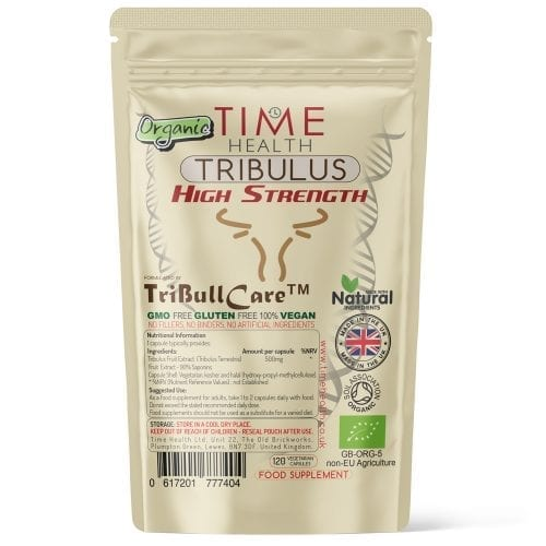 Organic Tribulus Terrestris - High Strength - Made with TriBull Care - Capsules