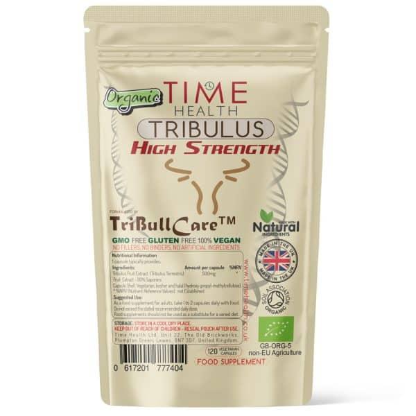 Organic Tribulus Terrestris - High Strength - Made with TriBull Care - Capsules