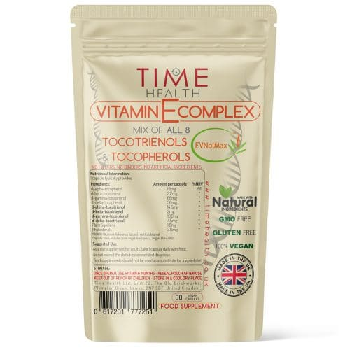 Vitamin E Complex - All 8 Tocotrienols & Tocopherols - EVNolMax - Capsules