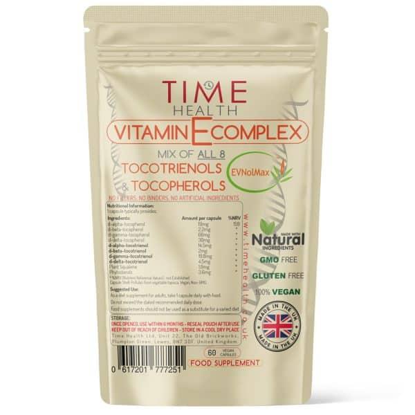 Vitamin E Complex - All 8 Tocotrienols & Tocopherols - EVNolMax - Capsules