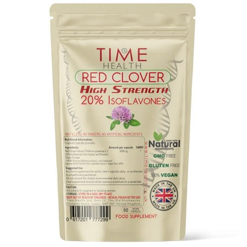 Red Clover Capsules - High Strength 20% Isoflavones - Capsules