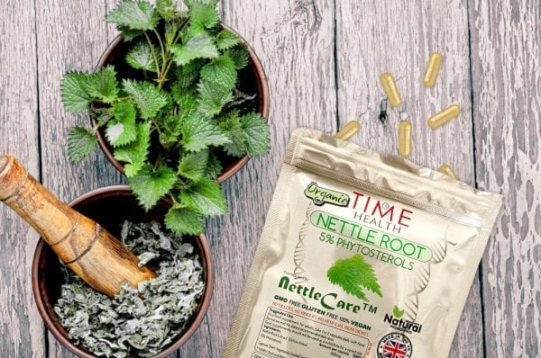 organic nettle root extract capsules 5% phytosterols