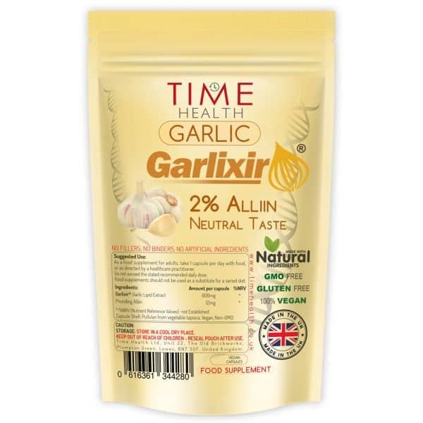 high strength garlic lipid extract with garlixir 2% alliin