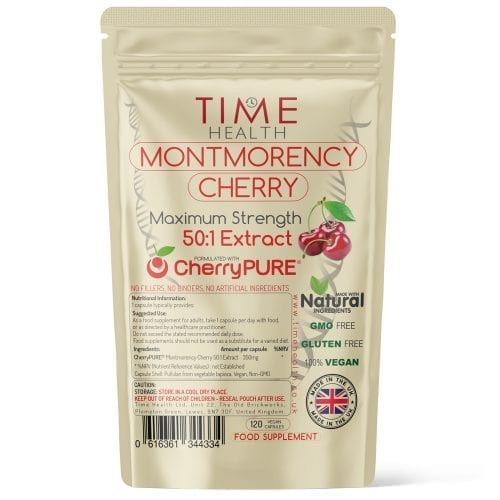 Montmorency / Tart Cherry Capsules - Made with CherryPURE - High Strength 50:1 Extract