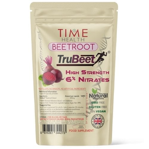 Beetroot Extract Capsules - Made with TruBeet - 6% Nitrates - Pre-Workout