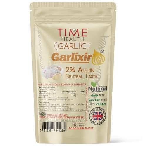 Garlic Extract Capsules - Made with Garlixir - 2% Alliin - Neutral Taste