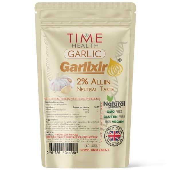 Garlic Extract Capsules - Made with Garlixir - 2% Alliin - Neutral Taste