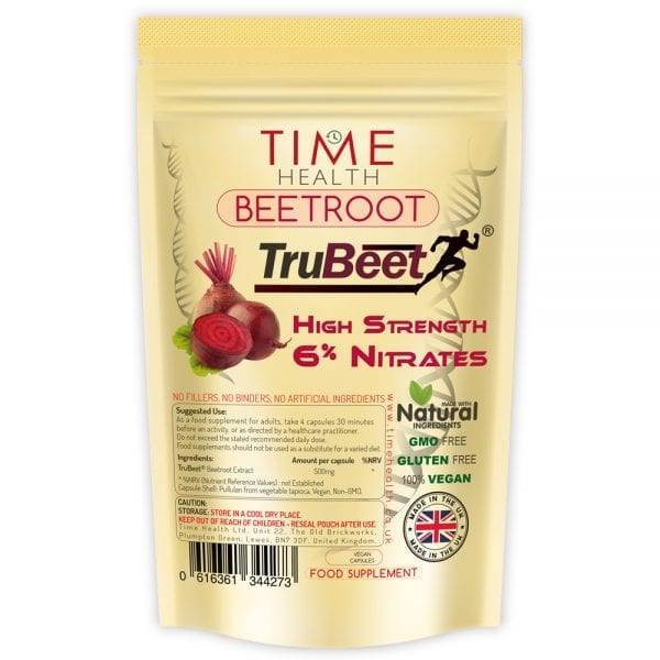 TruBeet beetroot extract capsules high in nitrates