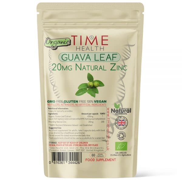 Natural Zinc from Guave Leaf - 20mg per Capsule
