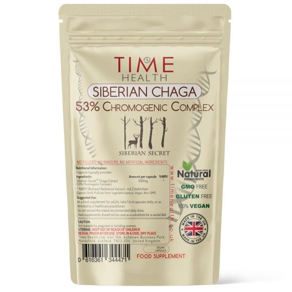 Siberian Chaga Extract Capsules - 53% Chromogenic Complex - Siberian Secret