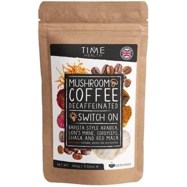 Mushroom Coffee (Decaf) with Lion's Mane, Cordyceps, Chaga, Red Maca, Bacopa, Resveratrol and L-Theanine