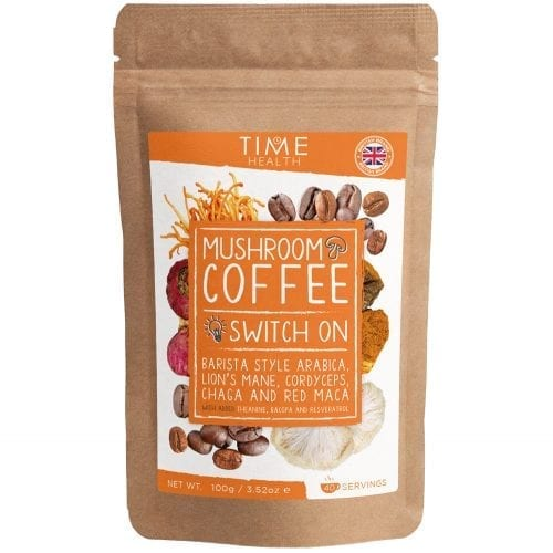 Mushroom Coffee with Lion's Mane, Cordyceps, Chaga, Red Maca, Bacopa, Resveratrol and L-Theanine